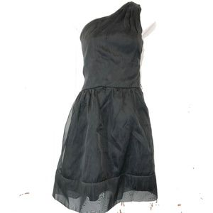AFTER SIX Lined Little Black One Shoulder Dress 12